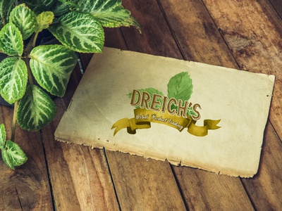 Dreigh's Herbal Product Trading logo flat design logo