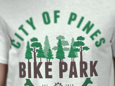 City of Pines shirt design branding logo design