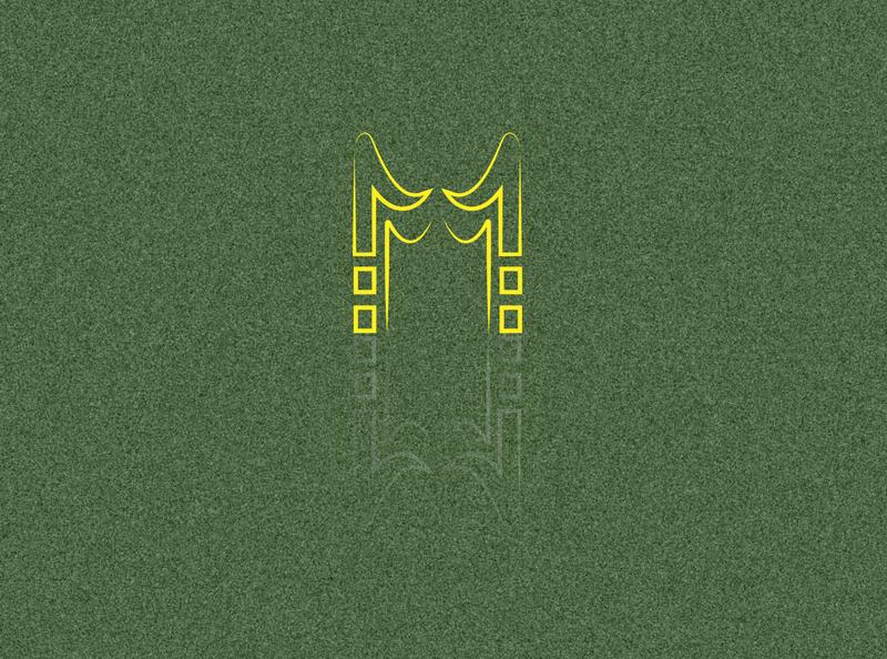 M logo designe web logo typography design illustration
