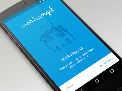 WorkAngel Signup - Material Design hayley cattlin guidelines illustration google ui design sketch signup lollipop android material design