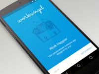 WorkAngel Signup - Material Design
