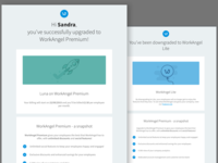 WorkAngel Premium vs Lite plan email design