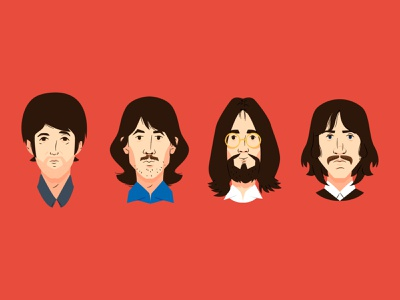 Beatles profile editorial illustration editorial allyouneedislove beatlesforever illustratedart illustrationartist bestofillustration adobeillustrator artwork artists illustrate vector instaart digitalillustration spotillustration art music beatles