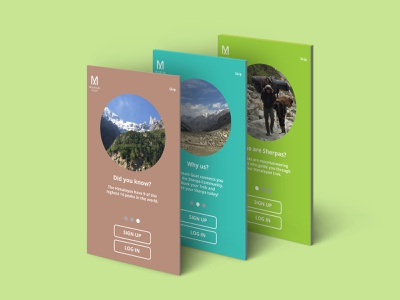Mountain Goat Hiking App ux ui  ux uiuxdesigner uiuxdesign uiux ui trekker trek sherpa outdoors mountains mountain indian himalayas himalayan hiking hiker award winning app aggregator