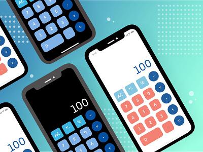 Calculator - Daily UI #004 dribbblers dribbbler numerics numerical numbers calculate math dailychallenge dailyuichallenge dailyui daily calculator user experience ux app ui uiux interfacedesign