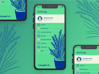 Settings - Daily UI #007 uxdesigner uxdesign dailypost ecofriendly green plants dribbbler dribbblers plant illustration iphone setting settings user experience app uiux ux ui challenge daily