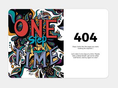 404 Page - Daily UI #008 interfacedesign uidesigner uxdesigner sketch procreate illustrate errorpage errorscreen 404page dailychallenge challenge daily dailyui illustration design dribbblers user experience ux ui uiux