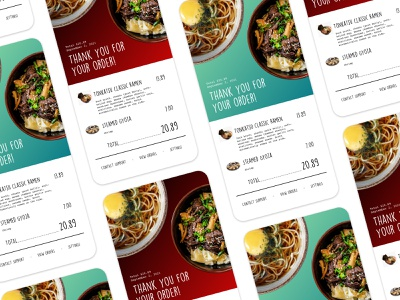 Email Receipt - Daily UI #017 emails interfacedesign uidesign uxdesign dailychallenge dailyui dribbbler food receipt email takeout ramen design daily dribbblers user experience app ux ui uiux