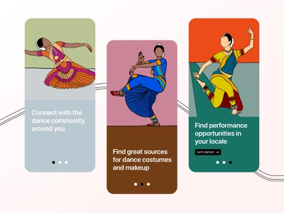 Onboarding - DailyUI #023 dailyui illustrator welcome screen onboarding interface interfacedesign uidesign uxdesigner uxdesign dancer dance illustration design daily dribbblers user experience app ui ux uiux