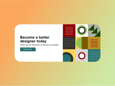 Subscribe - DailyUI #026 dribbbler graphicdesign widget uxdesign uxdesigner dailychallenge subscribe dailyui illustration design daily dribbblers user experience app ux ui uiux