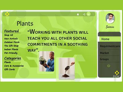 Garden plant landing page greenhouse greenery planting plants uidesign webdesigner logo design figmadesign webdesign website design logo design ui ux web
