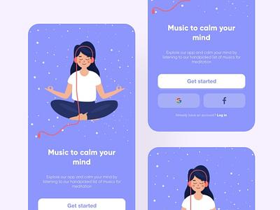 yoga music app uiux uiuxdesign yoga pose yoga logo yoga app figma website design ui design adobe xd art web app design webdesign ux design ui