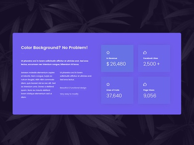 Animated counter web element