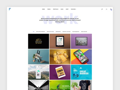 Portfolio Page for Framed WP Theme