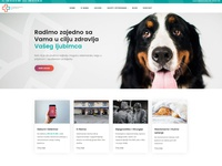 A website for a veterinary clinic