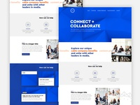 A homepage design for an IT and entertainment company