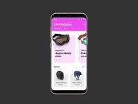 Ski & Snowboard Goggles App Concept with InVision Studio