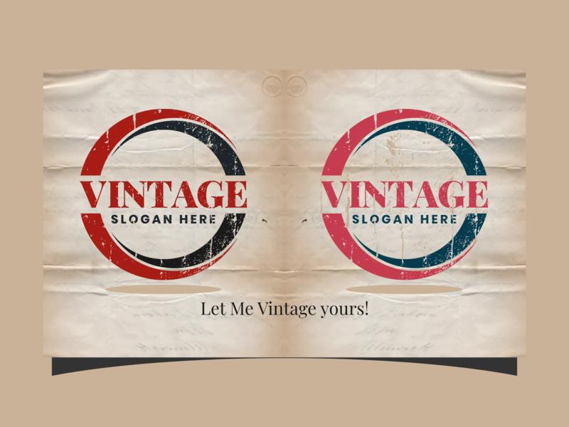 vintage photoshop inkscape coreldraw ai grunge black red triangle circle logo circle elegant vector logo design vintage design vintage logo vintage