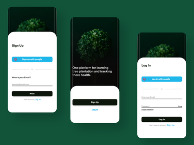 Tree Growth App (sign Up form) graphic design typography website app web minimal design ux ui