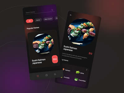 Menu & Payment App Design best design best app design dribbble best shot trendy food app food industry menu app food restaurant payment app app design app design ux design uidesign restaurant app ux ui