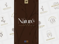 12 Nature Logo Templates for Photoshop & Illustrator branding vector typeface lettering design bundle creative brand logo font