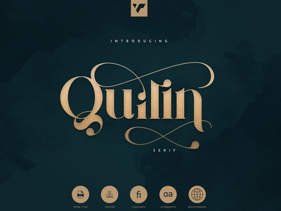 QUILIN SERIF - LATIN AND CYRILLIC minimal logo ui illustration web ux vector serif typeface lettering design bundle creative brand font