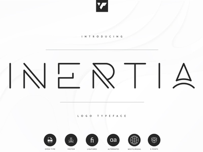 INERTIA - LOGO TYPEFACE | 5 WEIGHTS illustration icon ux ui lettering design creative brand logo font