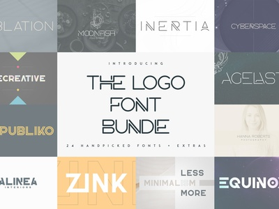 THE LOGO FONT BUNDLE - 24 FONTS font ui ux branding serif typeface vector bundle creative logo