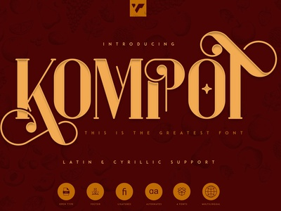 KOMPOT - THIS IS THE GREATEST FONT web branding serif vector lettering design logo brand creative font