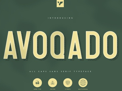 AVOQADO - ALL CAPS SANS TYPEFACE brand design ux branding lettering vector ui typeface sans logo font