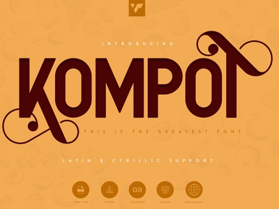 KOMPOT SANS - 2 FONTS ui branding serif vector lettering bundle design brand creative logo