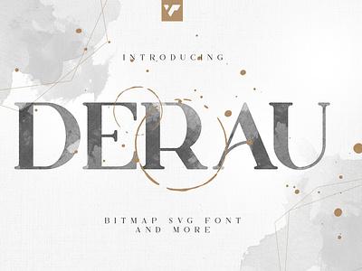 DERAU - BITMAP SVG FONT AND MORE ux ui serif branding bitmap svg font vector lettering design font creative best fonts