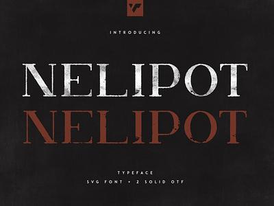 NELIPOT TYPEFACE - SVG + 2 OTF FONTS web ux ui serif typeface vector lettering brand creative font
