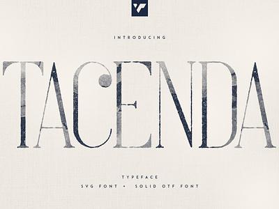 TACENDA - TEXTURED + ROUGH FONTS graphic design ui bundle lettering design logo brand creative font