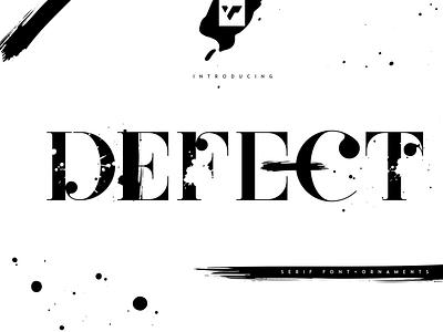 Defect - Creative Serif Font + Ornaments font creative lettering bundle branding logo graphic design ui