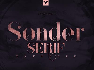 SONDER SERIF TYPEFACE - 5 WEIGHTS illustration bundle lettering design logo brand creative font
