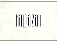 Kalpazan font family. Free font style attached