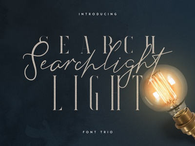 Searchlight - font trio. Free fonts included