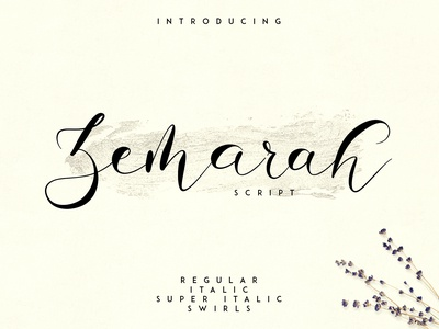 Zemarah script - 3 styles + Extras