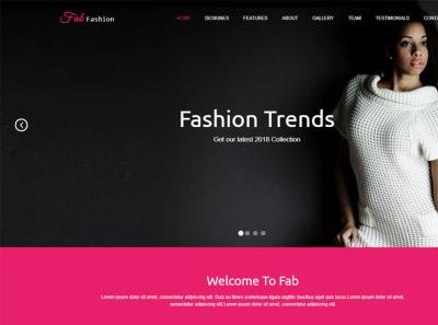 Fashion style - Website Design - Modern digital marketing web design fashion design