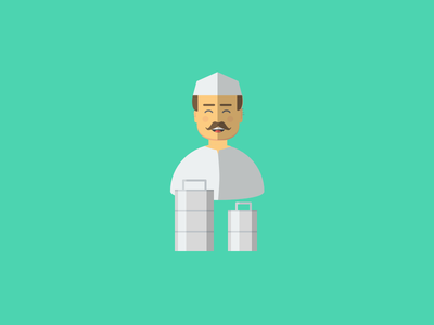 Happy Faces Part 2 : Dabbawala face happy illustration vector dabbawala sketch