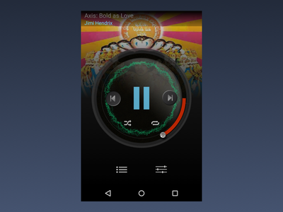 Music player UI throwback android music player throwback mobile