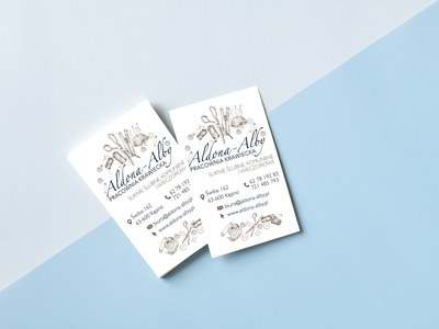 Business card typography branding design