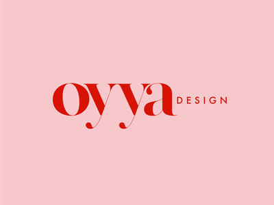 Logo OYYA design flat design branding vector simple logo typogaphy
