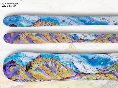 Advanced Shelter Functional Art - MERU by Renan Ozturk skis snowboard