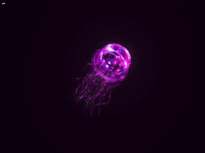 Electric Jellyfish nft 3d nomadscupt pink jellyfish 3dart