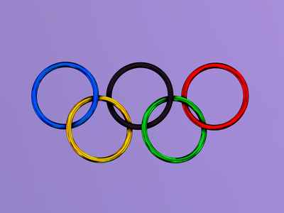 Made some Olympic rings olympic ipad nomadsculpt 3d rings olympics