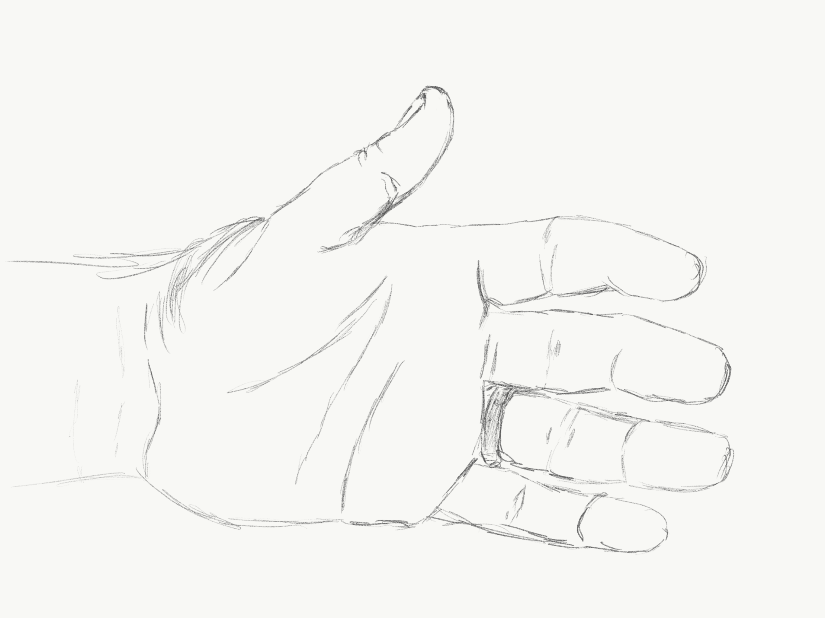 Drawing my hand for the first time in a while hand time-lapse wip sketch