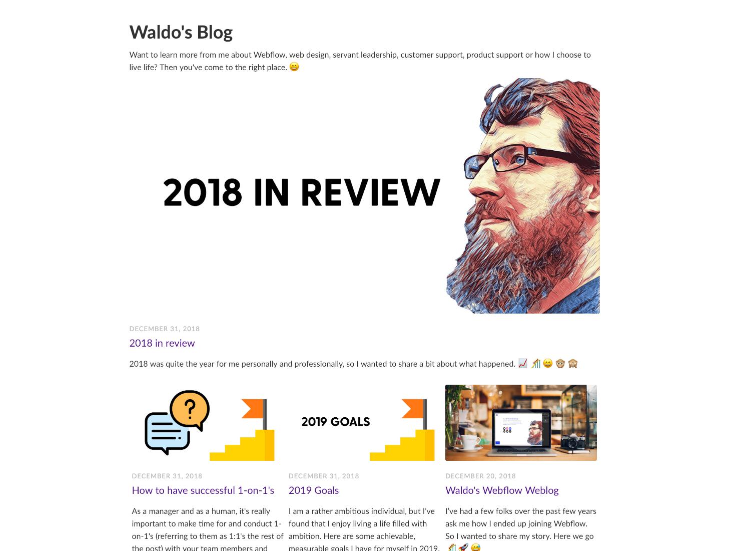 I started a blog 🙈 blog design html5 web design webflow