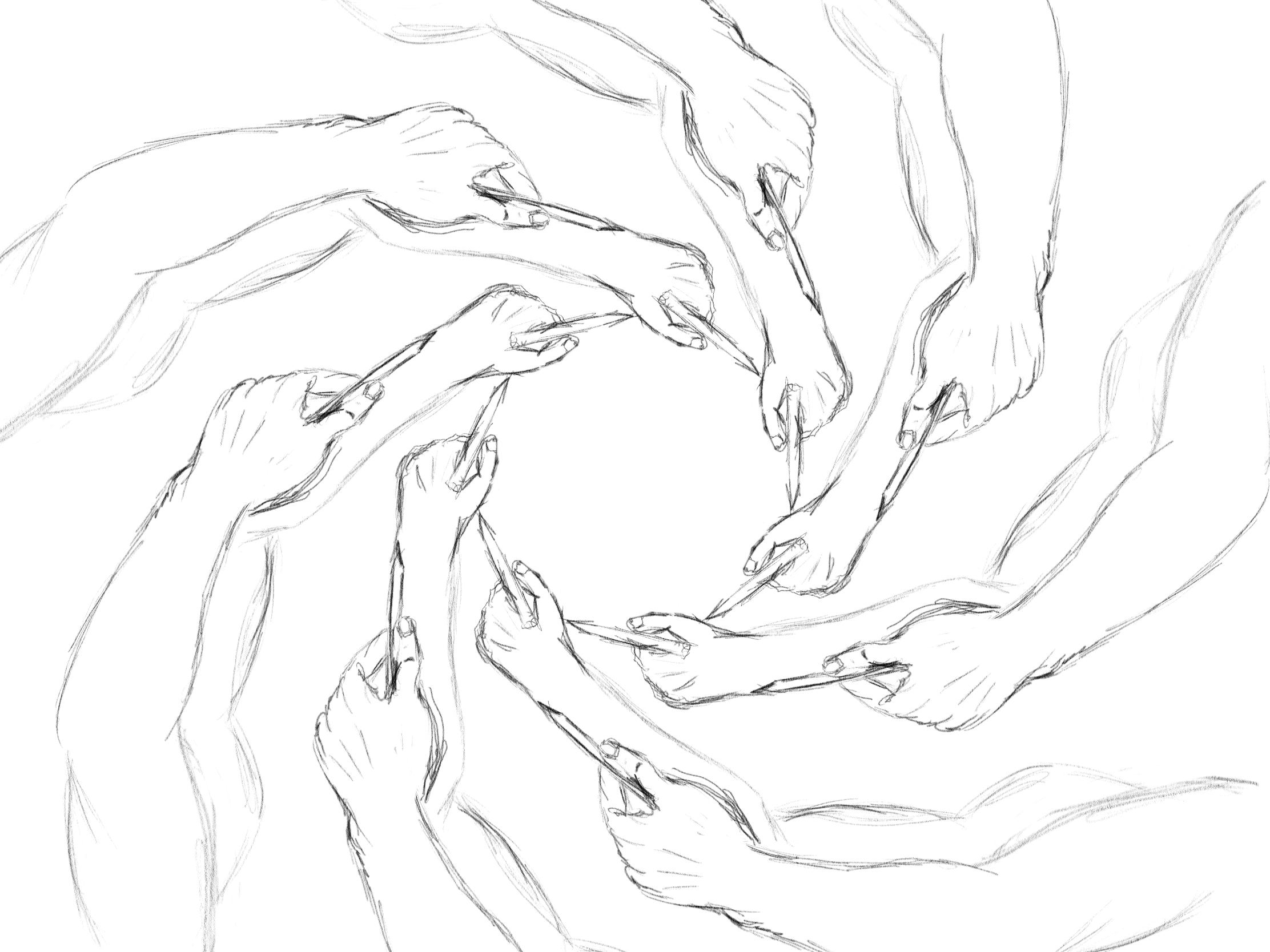 No, I don't draw like that 🙈 illustration autodesk hands sketch